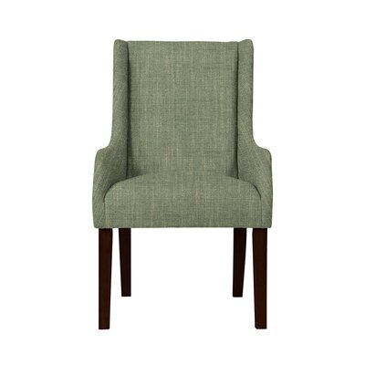 Trigg Wingback Chair Upholstery: Gray/Green