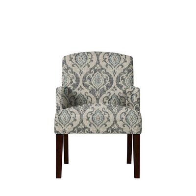 Trilby Upholstered Dining Chair Upholstery: Gray/Blue