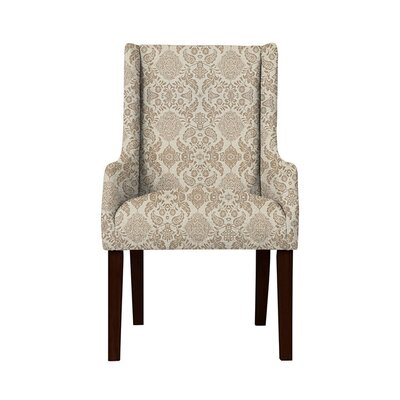 Trigg Wingback Chair Upholstery: Bentley Fabric Brown/Off White