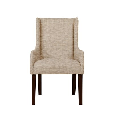 Trigg Wingback Chair Upholstery: Beige/Pink