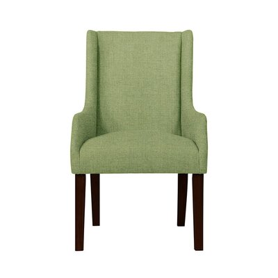 Hargraves Wingback Chair Upholstery: Green