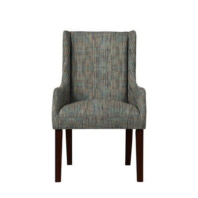 Trigg Wingback Chair Upholstery: Gray/Teal