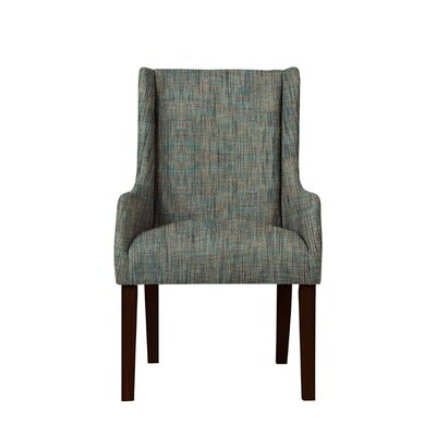 Hargraves Wingback Chair Upholstery: Gray/Teal
