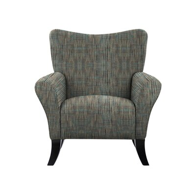 Troche Armchair Upholstery: Gray/Teal