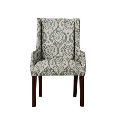 Trigg Wingback Chair Upholstery: Isla Fabric Gray/Blue