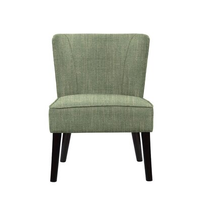 Trisler Slipper Chair Upholstery: Gray/Green