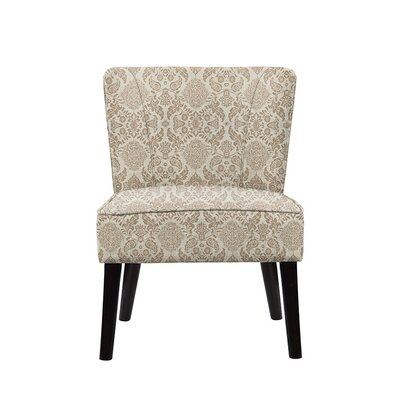 Trisler Slipper Chair Upholstery: Bentley Fabric Brown/Off White