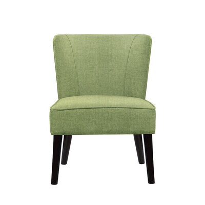 Trisler Slipper Chair Upholstery: Green