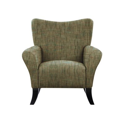 Troche Armchair Upholstery: Brown/Gray