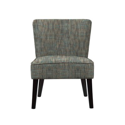 Trisler Slipper Chair Upholstery: Gray/Teal