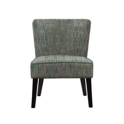 Triche Slipper Chair Upholstery: Gray/Teal