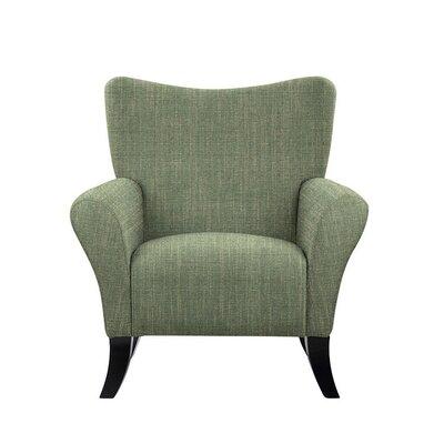 Troche Armchair Upholstery: Gray/Green