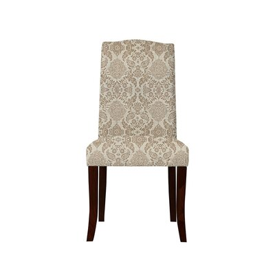 Trinity Place Upholstered Dining Chair Upholstery: Bentley Fabric Brown/Off White
