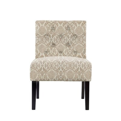 Troiano Slipper Chair Upholstery: Bentley Fabric Brown/Off White
