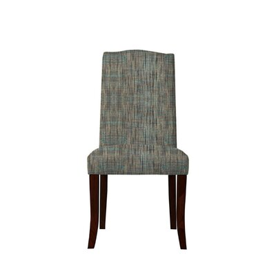 Trinity Place Upholstered Dining Chair Upholstery: Gray/Teal