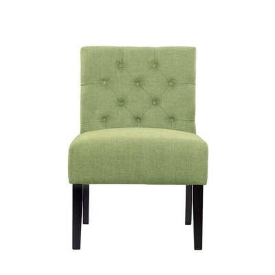 Troiano Slipper Chair Upholstery: Green
