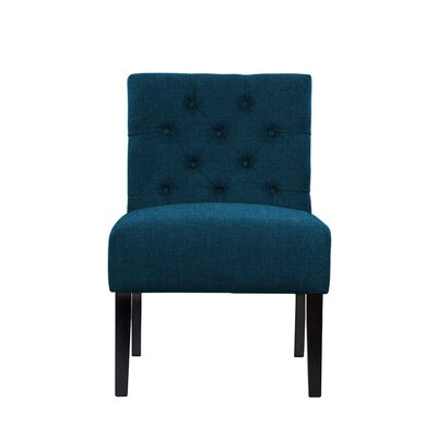 Troiano Slipper Chair Upholstery: Dark Blue