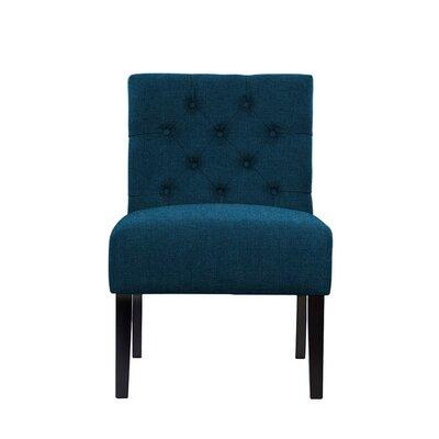 Troiano Slipper Chair Upholstery: Dark Blue