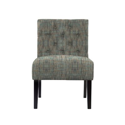 Troiano Slipper Chair Upholstery: Gray/Teal