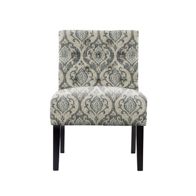 Troiano Slipper Chair Upholstery: Isla Fabric  Gray/Blue