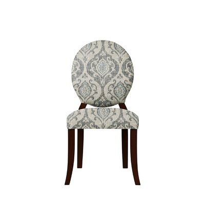 Tristen Upholstered Dining Chair Upholstery: Isla Fabric Gray/Blue