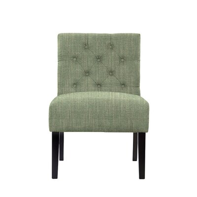 Troiano Slipper Chair Upholstery: Gray/Green