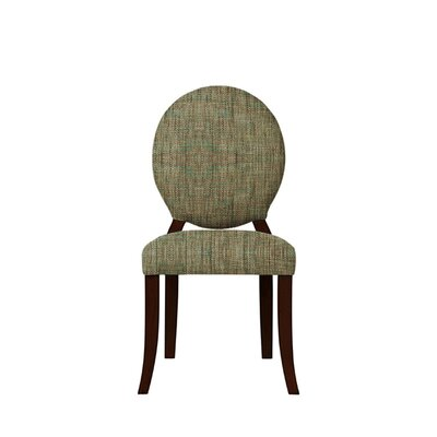 Tristen Upholstered Dining Chair Upholstery: Brown/Gray