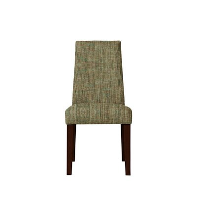 Trogdon Upholstered Dining Chair Upholstery: Brown/Gray