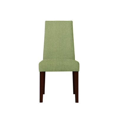Trogdon Upholstered Dining Chair Upholstery: Green