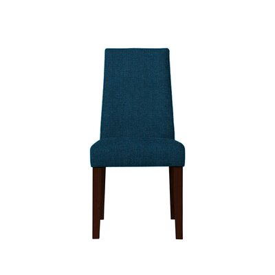 Trogdon Upholstered Dining Chair Upholstery: Dark Blue