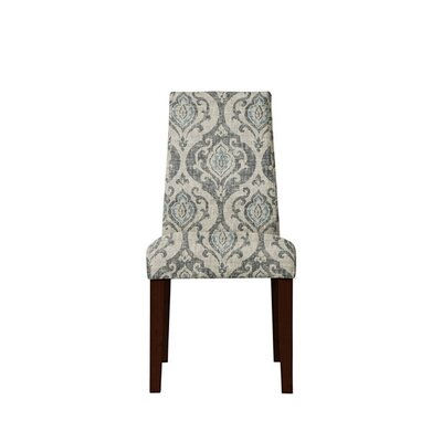 Trogdon Upholstered Dining Chair Upholstery: Isla Fabric Gray/Blue