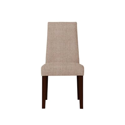 Trogdon Upholstered Dining Chair Upholstery: Light Pink/Moss Rose