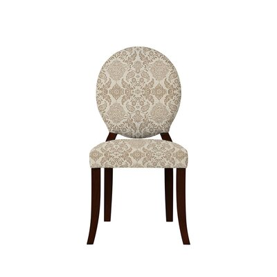 Tristen Upholstered Dining Chair Upholstery: Bentley Fabric Brown/Off White