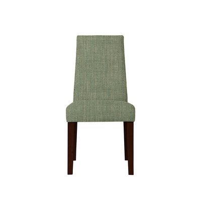Trogdon Upholstered Dining Chair Upholstery: Gray/Green