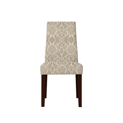 Trogdon Upholstered Dining Chair Upholstery: Bentley Fabric Brown/Off White