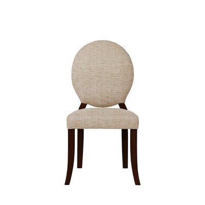 Tristen Upholstered Dining Chair Upholstery: Beige/Pink