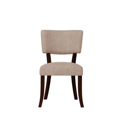 Trombetta Upholstered Dining Chair Upholstery: Light Pink/Moss Rose