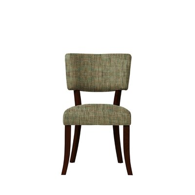 Trombetta Upholstered Dining Chair Upholstery: Brown/Gray