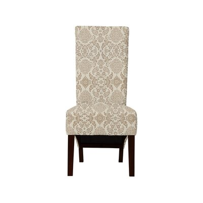 Trollinger Upholstered Dining Chair Upholstery: Bentley Fabric Brown/Off White