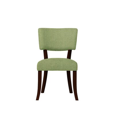 Trombetta Upholstered Dining Chair Upholstery: Green