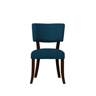 Trombetta Upholstered Dining Chair Upholstery: Dark Blue