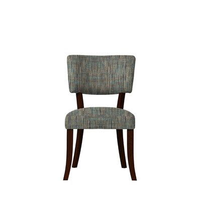Trombetta Upholstered Dining Chair Upholstery: Gray/Teal