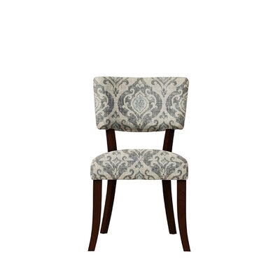 Trombetta Upholstered Dining Chair Upholstery: Isla Fabric  Gray/Blue