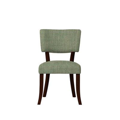 Trombetta Upholstered Dining Chair Upholstery: Gray/Green