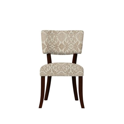 Trombetta Upholstered Dining Chair Upholstery: Bentley Fabric Brown/Off White