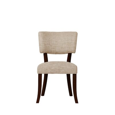 Trombetta Upholstered Dining Chair Upholstery: Beige/Pink