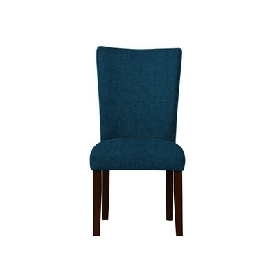 Triche Upholstered Dining Chair Upholstery: Dark Blue