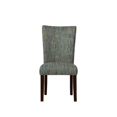 Triche Upholstered Dining Chair Upholstery: Gray/Teal