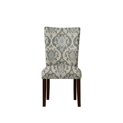 Triche Upholstered Dining Chair Upholstery: Isla Fabric Gray/Blue