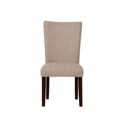 Triche Upholstered Dining Chair Upholstery: Light Pink/Moss Rose